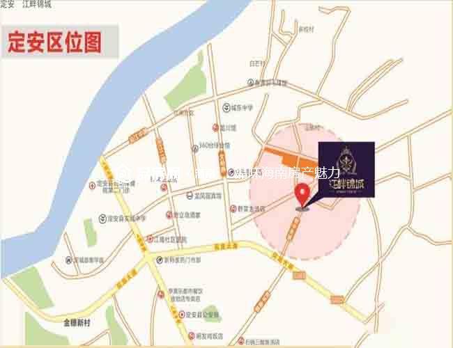 江畔锦城区位图
