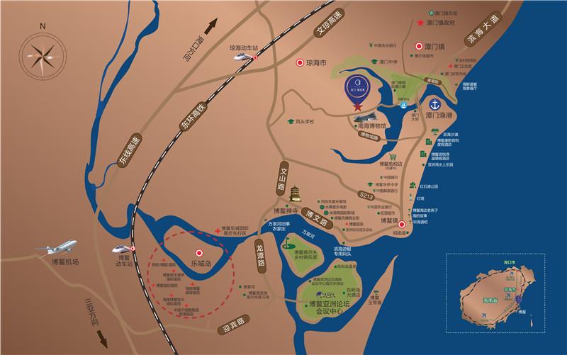 名门海宝湾交通图