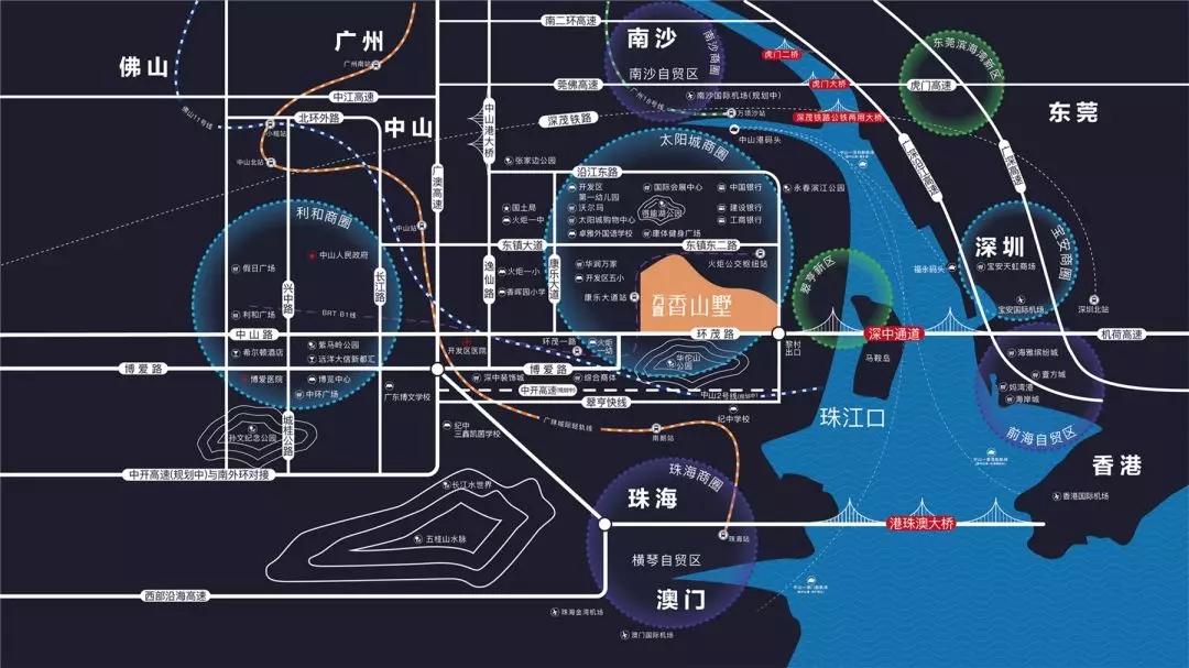 方直香山墅交通图