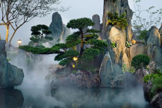 绿城桃李春风实景图