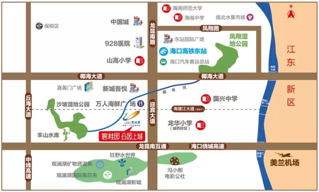 碧桂园公园上城交通图