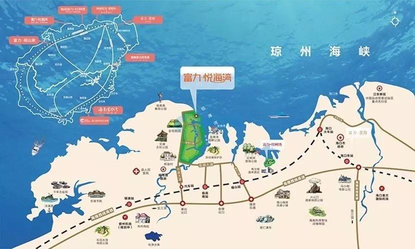 富力悦海湾区位图
