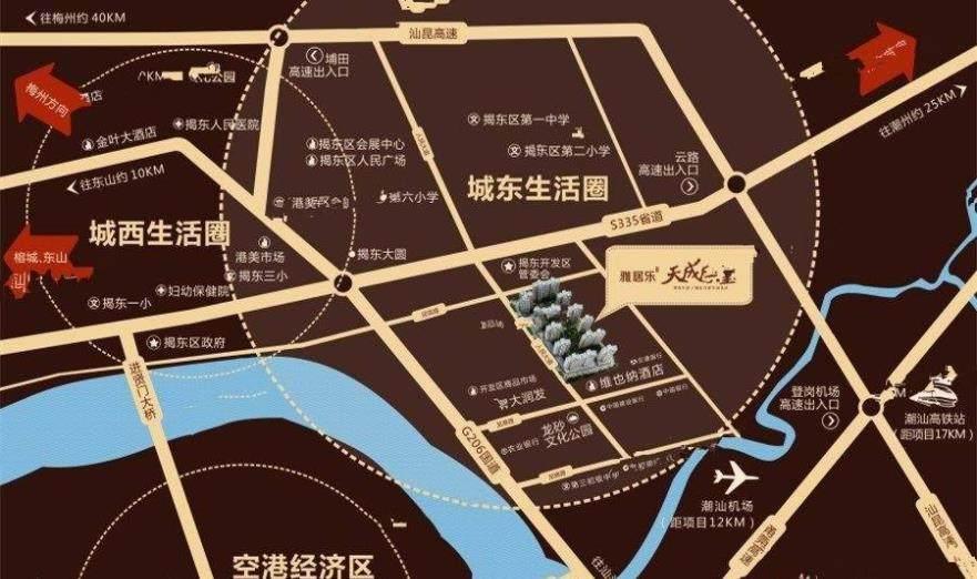 雅居乐天成东玺交通图